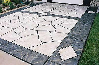 Concrete Driveway Design Ideas home and garden design ideas idea viewing gallery driveways walkways Stencil Driveway