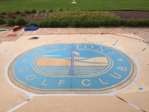 Golf Club- Stencil Applied